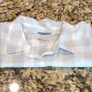 Merona medium gray/white shirt NWT